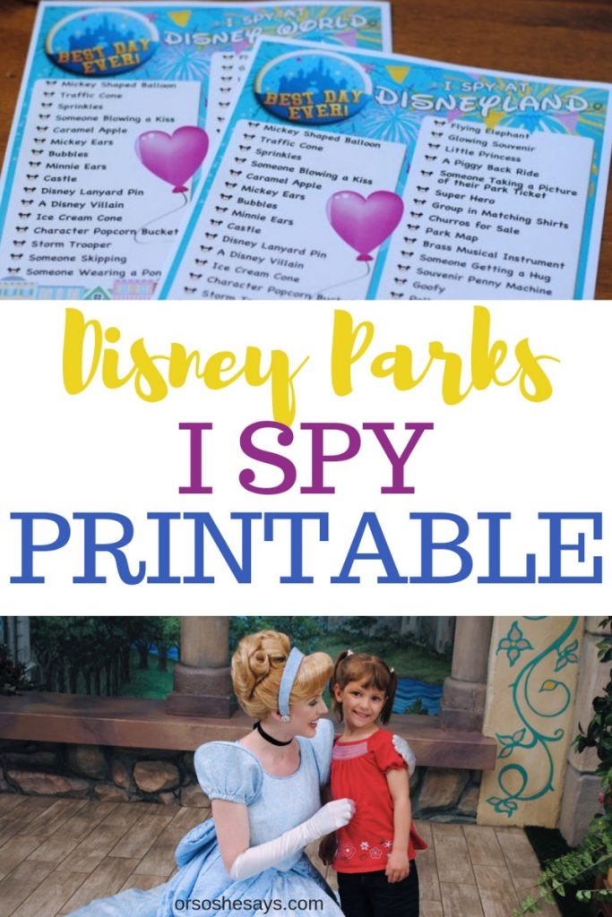 photograph relating to Disney World Printable Tickets named I Spy No cost Printable - Disney Parks Variation - Or as a result she states
