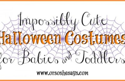 20 Impossibly Cute Halloween Costumes for Babies & Toddlers - See the full list on www.orsoshesays.com. #halloween #costumes #costumeideas #baby