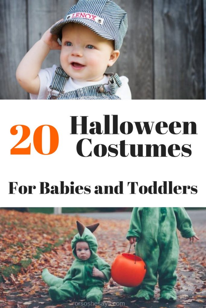 20 Impossibly Cute Halloween Costumes for Babies & Toddlers - See the full list on www.orsoshesays.com. #halloween #costumes #baby #costumeideas #halloweenideas