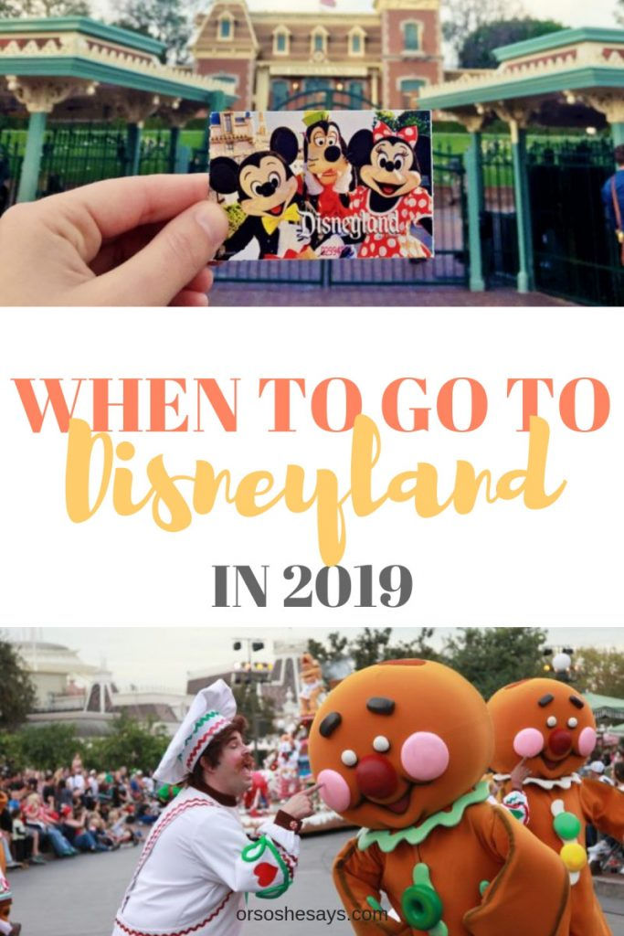 There are a lot of rumor sites out there, and this is NOT one of them. Instead, it is hopefully a good resource to help you to decide when to go to Disneyland in 2019. Get the scoop at www.orsoshesays.com #disneyland #getawaytoday #GAT #disney #vacation #starwars