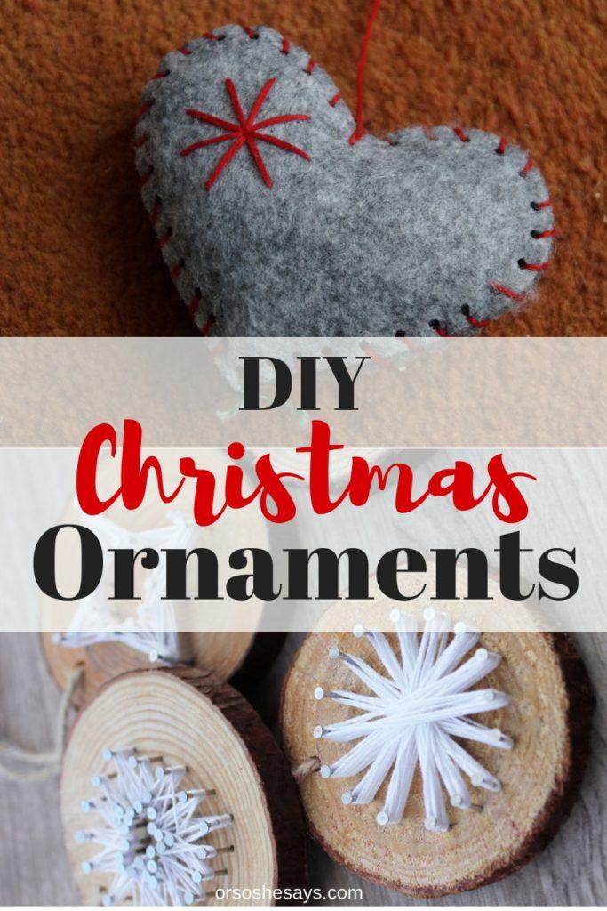 22 Christmas Ornaments For Kids! www.orsoshesays.com #christmas #ornaments #christmasornaments #DIY #crafts #craftsforkids #christmascrafts #neighborgifts