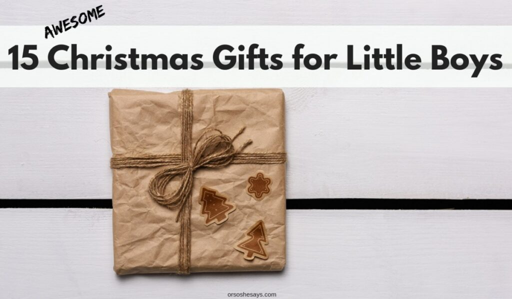 15 AWESOME Christmas gifts for little boys on www.orsoshsays.com #christmasgifts #christmas #gifts #giftideas #giftsforlittleboys #holidays