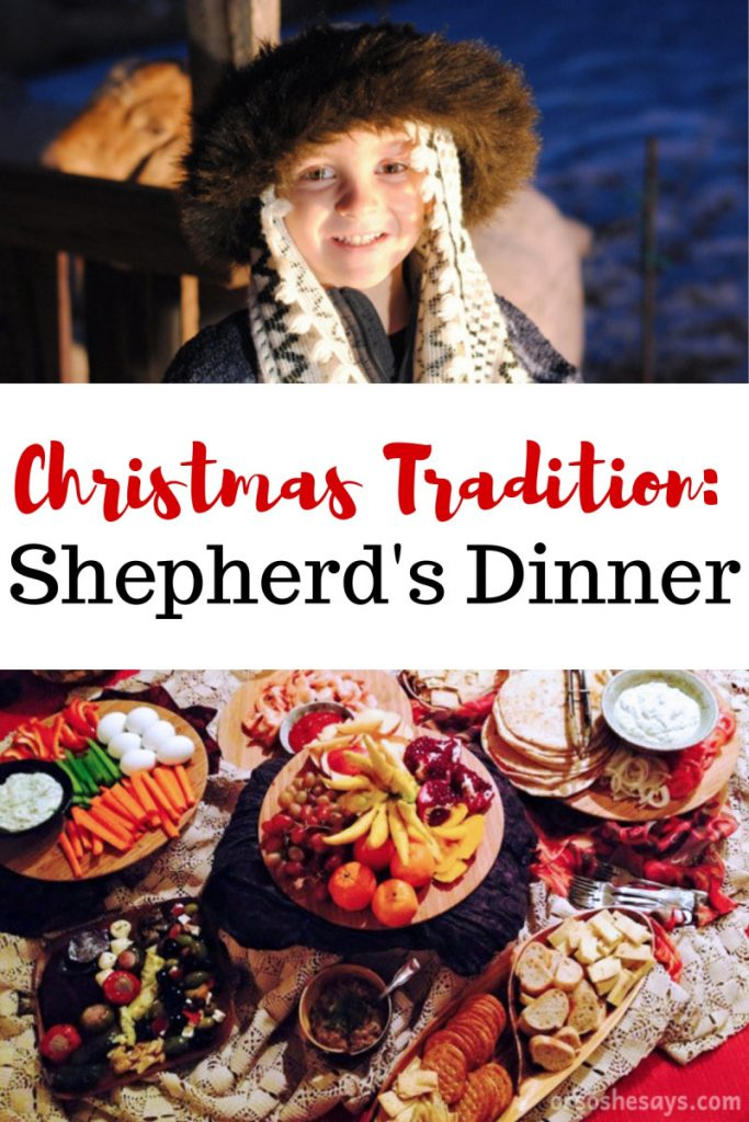 This Shepherd's Dinner will bring the true spirit of Christmas into your homes. Host a traditional meal and have a conversation about the Good Shepherd. www.orsoshesays.com #familynight #christmas #christmastraditions #fmailytraditions #christmasfamilynight #FHE #familyhomeeveneing