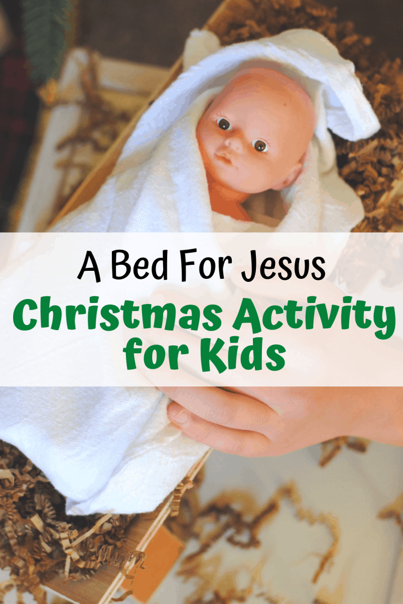 This Bed for Baby Jesus Christmas Lesson will bring the true Spirit of Christmas into your hearts and homes.  www.orsoshesays.com #christmas #christ #jesus #manger