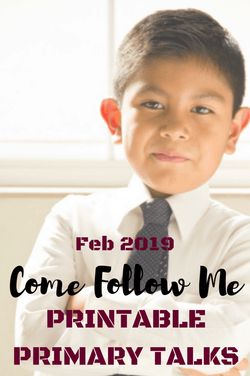 Come Follow Me Primary Talks for February - Or so she says