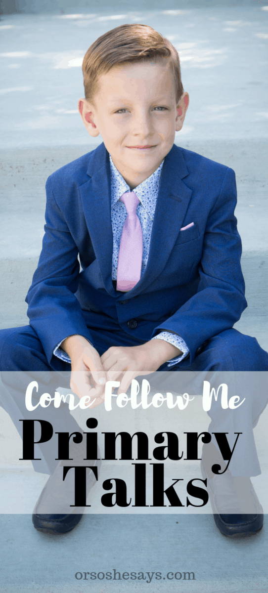 These Come Follow Me Printable Primary Talk templates are written to coordinate with the Come Follow Me lessons for March. Make speaking in church simple and easy with these meaningful messages. #OSSS #PRIMARY #LDS orsoshesays.com