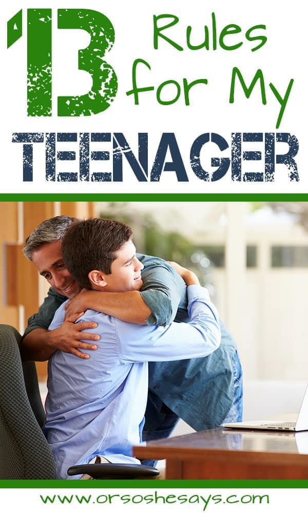 13 Rules for My Teenager