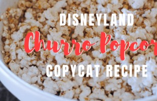 Disneyland churro popcorn is one of the fun, unique flavors added to the kettle corn collection available at Main Street U.S.A. in Disneyland. With my recipe, you can make your own at home! www.orsoshesays.com