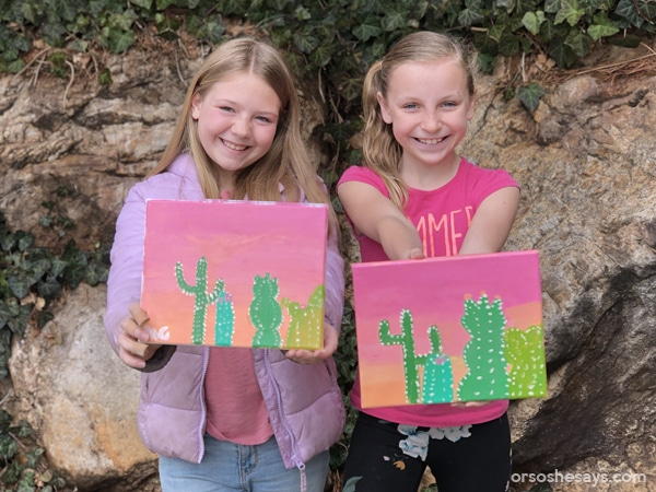 Paint Night Party Plan for Kids! Complete party instructions and plans including an inspirational talk and printable. #OSSS #PaintNight #LDS #ActivityDays #Youth #CraftNight