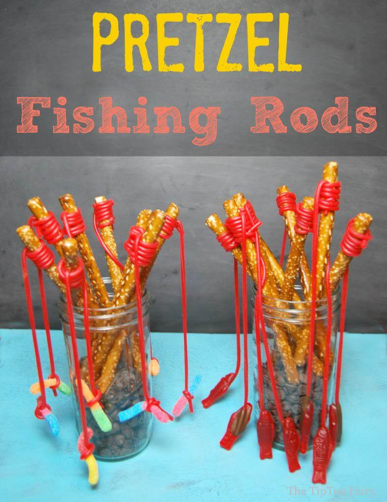 Pretzel Fishing Rods General Conference Treat