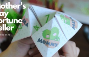 Free Mother's Day printable so you can make mom a fortune teller gift for the big day. www.orsoshesays.com #mothersday #printable #mothersdayprintable
