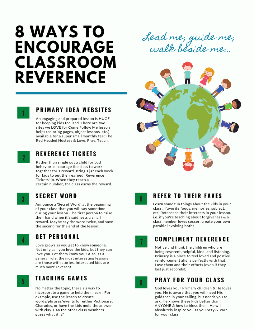 Primary Classroom Reverence Ideas