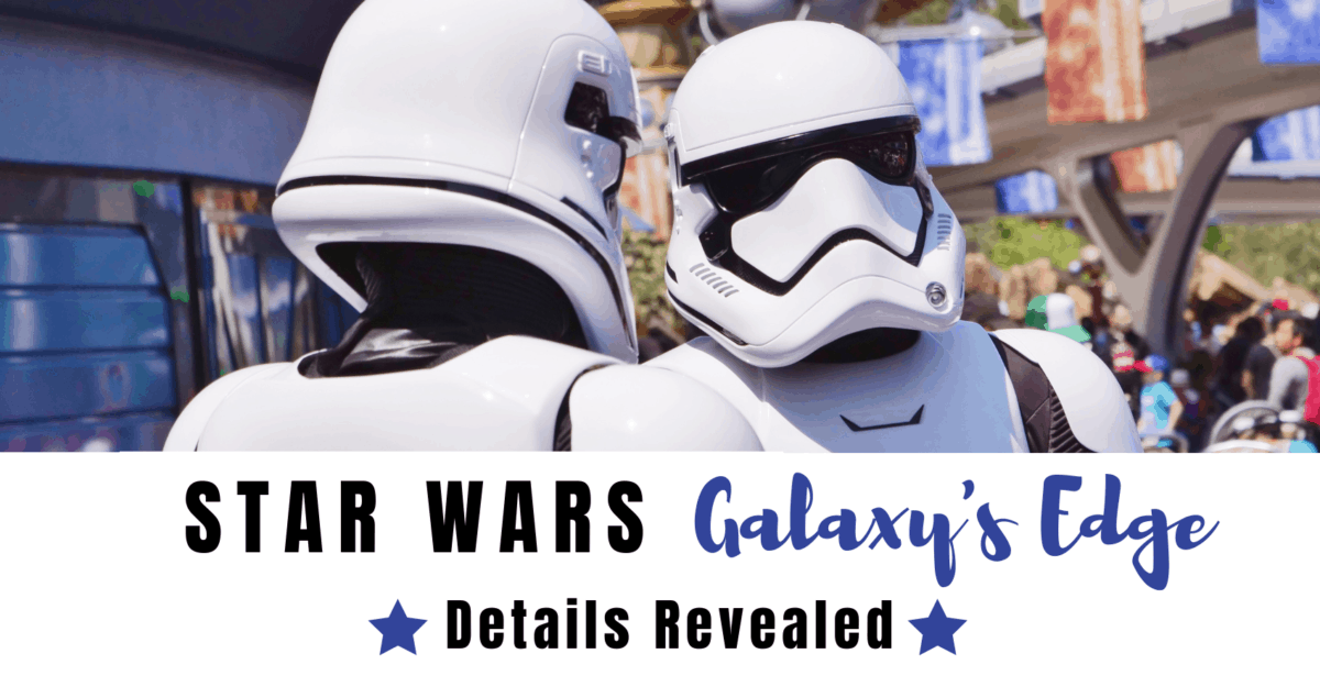 Star Wars Galaxy's Edge Details Revealed