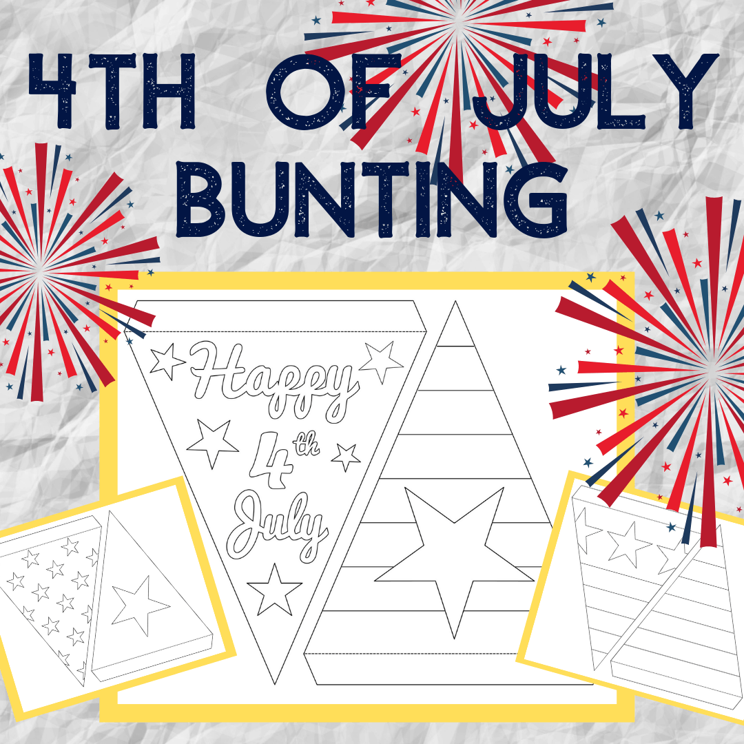 Fourth of July Bunting ~ Free Printable