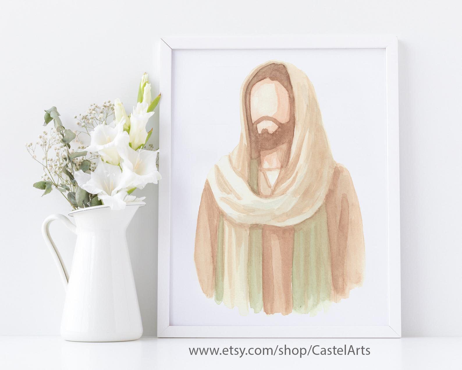 Watercolor Print of Christ