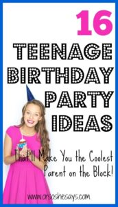 teenage birthday