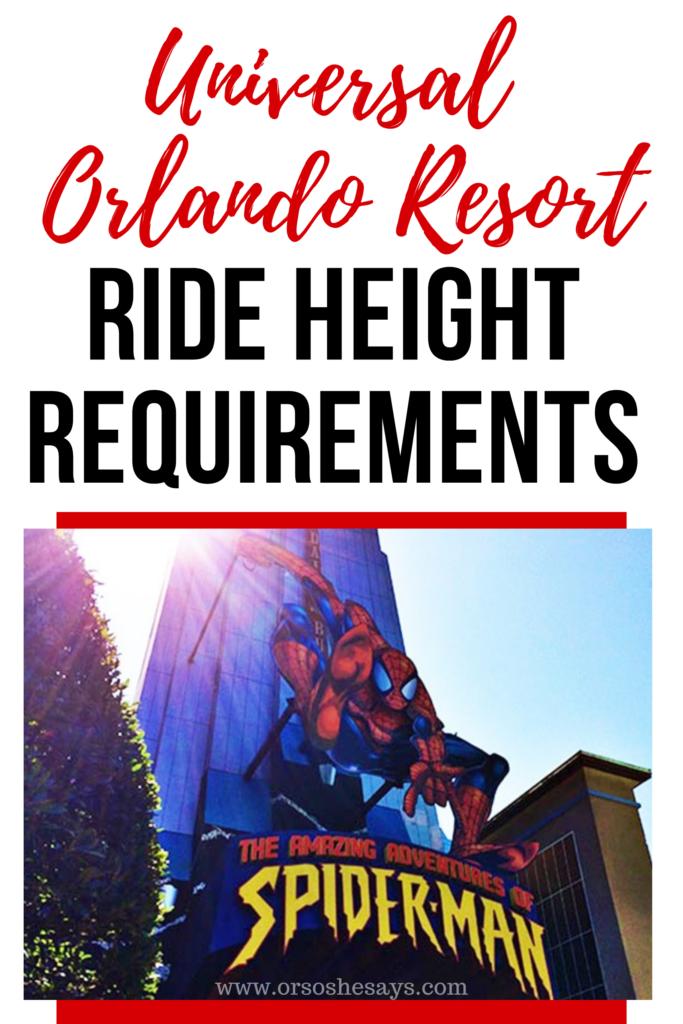 universal orlando resort ride height requirements