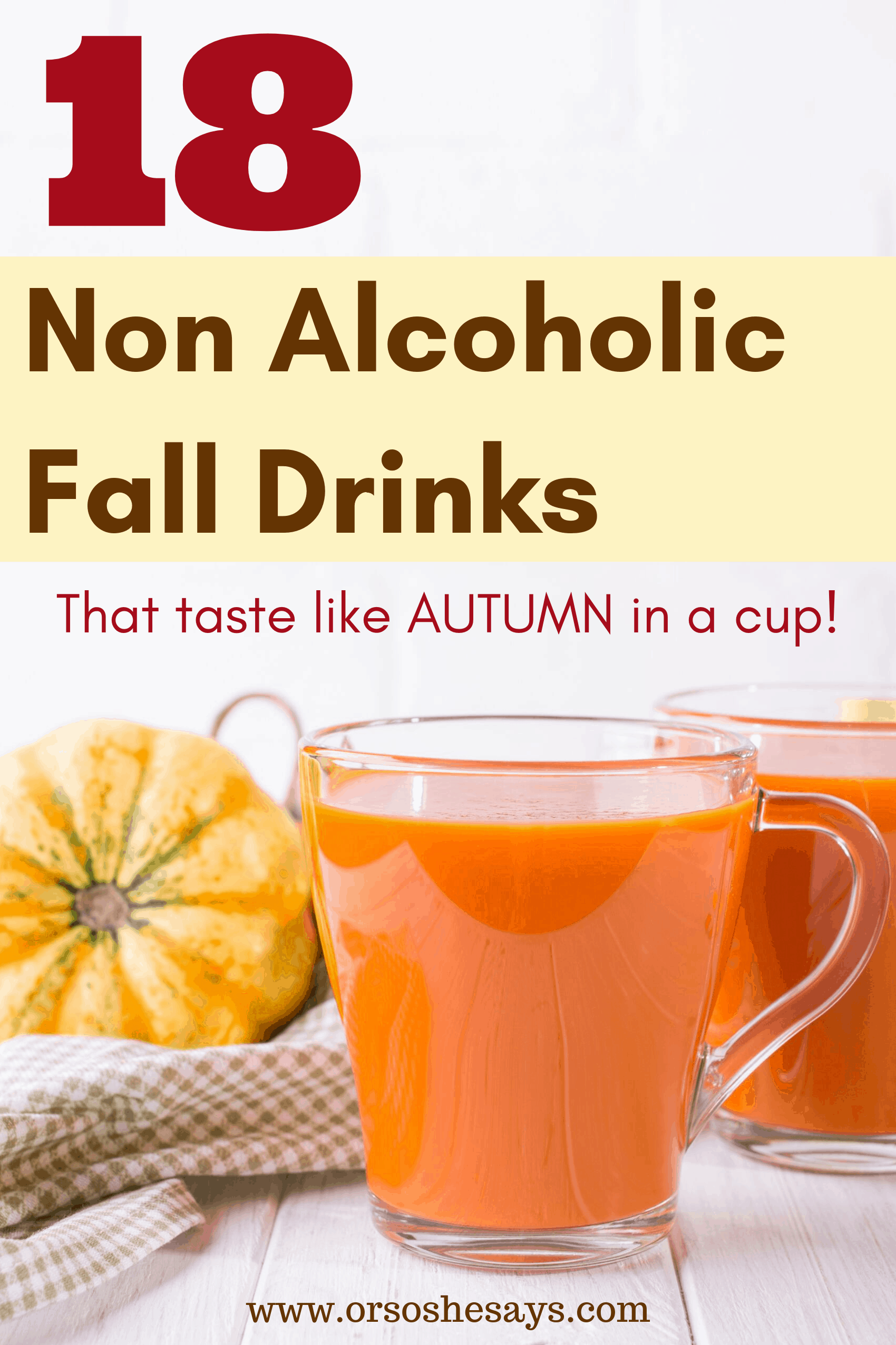 non alcoholic fall drinks