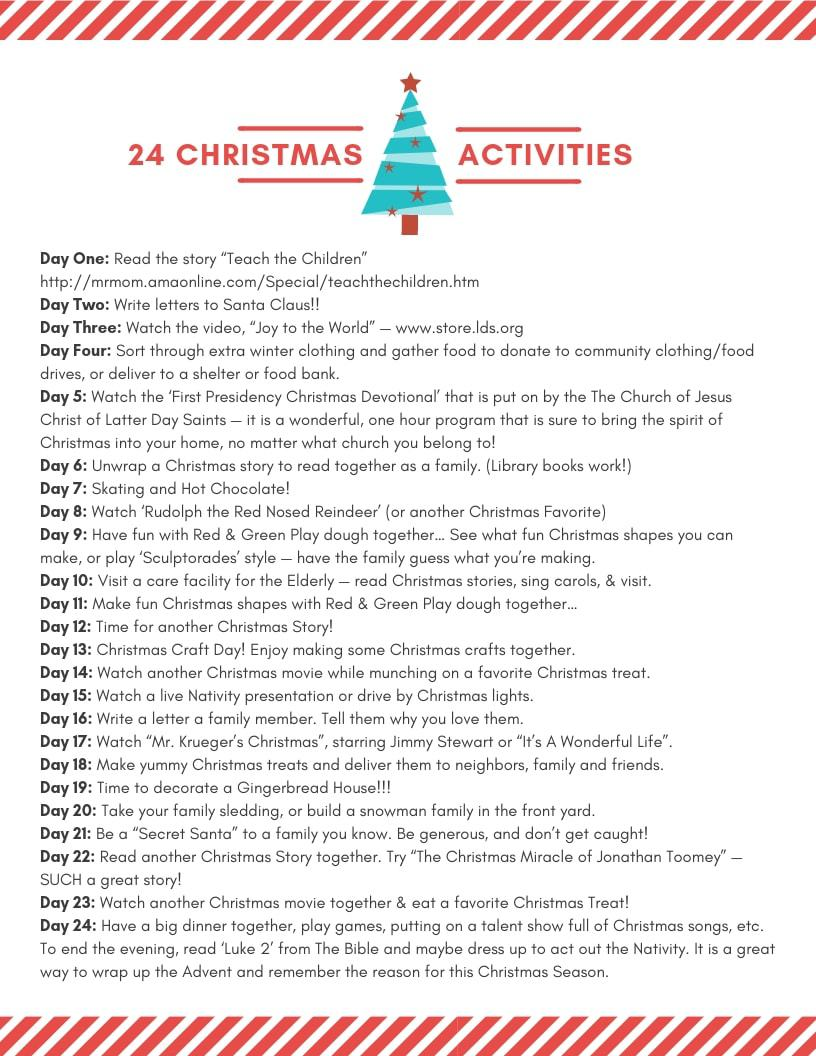 Christmas Activities ~ and other Christmas family traditions!