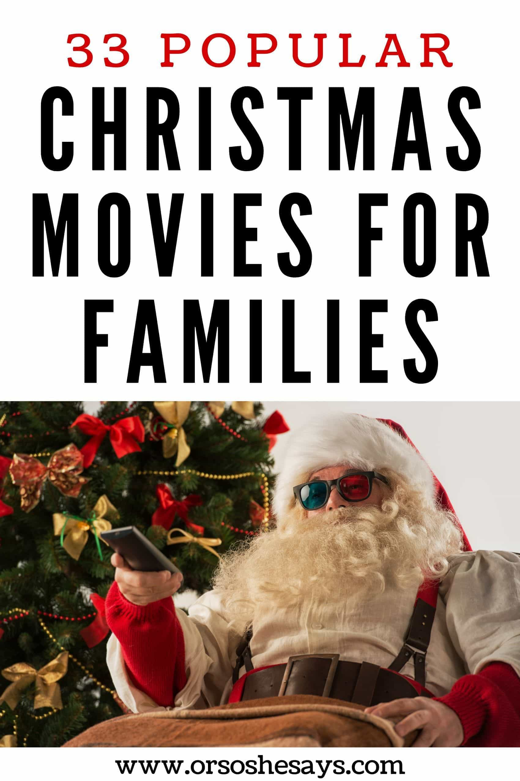 christmas family movies ~ and other Christmas family traditions!