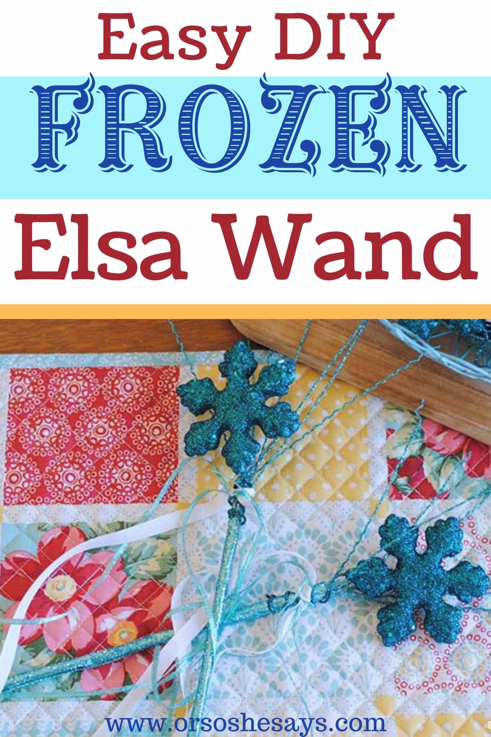 easy diy frozen Elsa snowflake wand