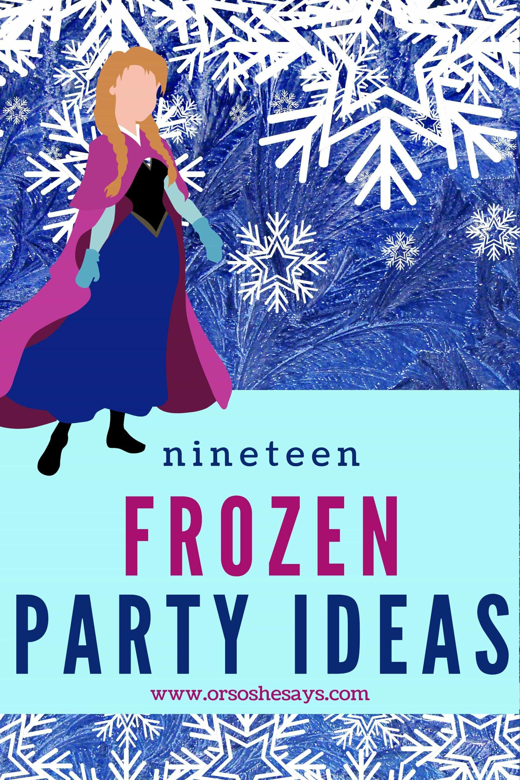 frozen party ideas for 4 year olds