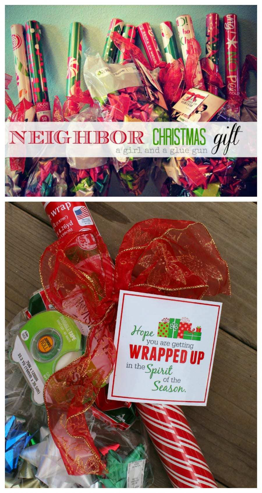 Wrapping Paper Gift ~ ~ Gift Idea for Neighbors