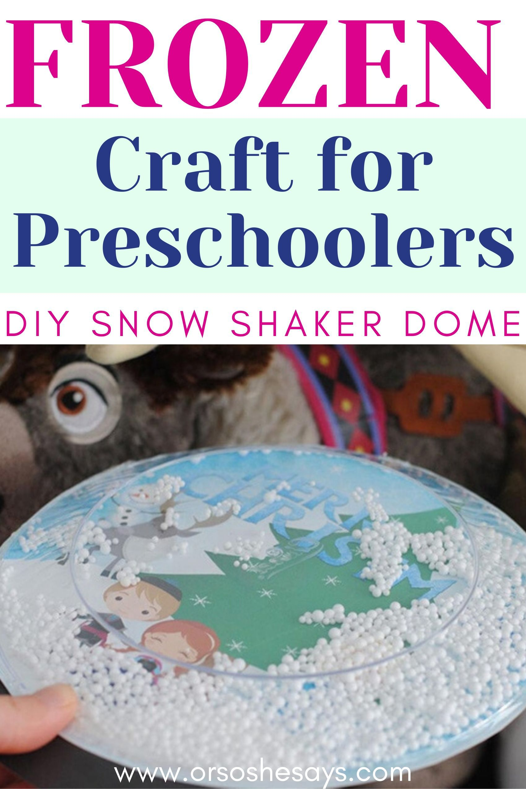 Frozen craft for preschoolers