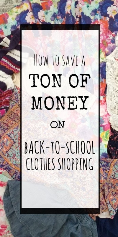 back to school clothes saving money
