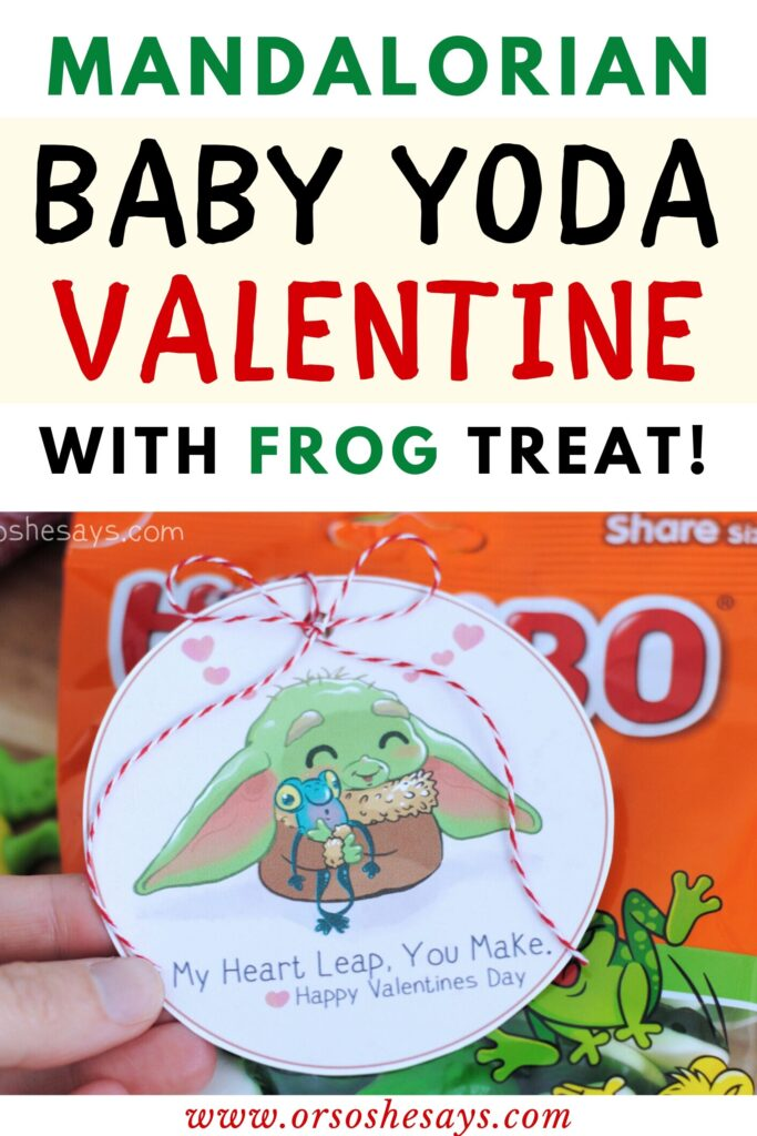 baby Yoda Star Wars Valentine