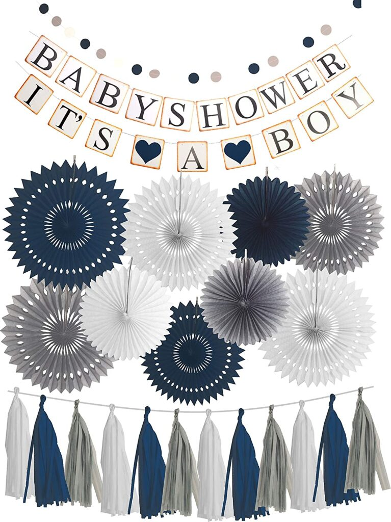 navy blue baby shower