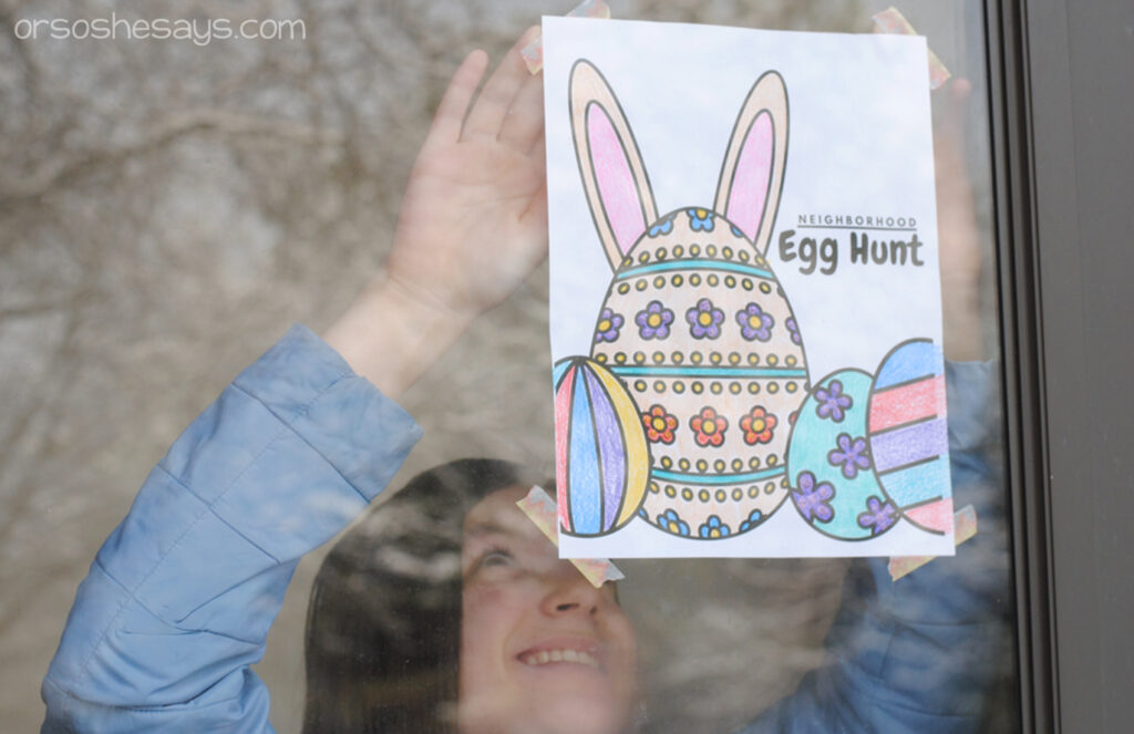 Display the Egg Hunt picture in a window