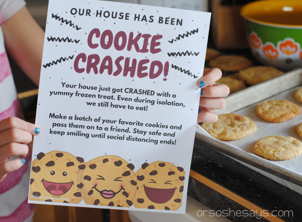 Cookie Crashed printable for neighborhood connectivity.