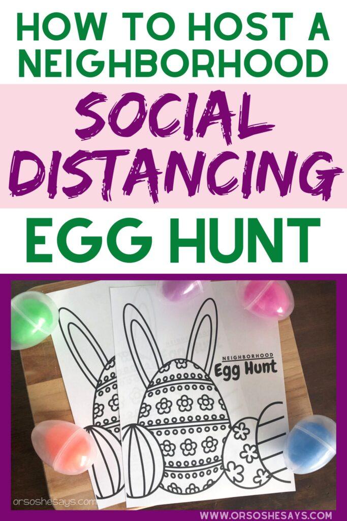 neighborhood egg hunt coronavirus