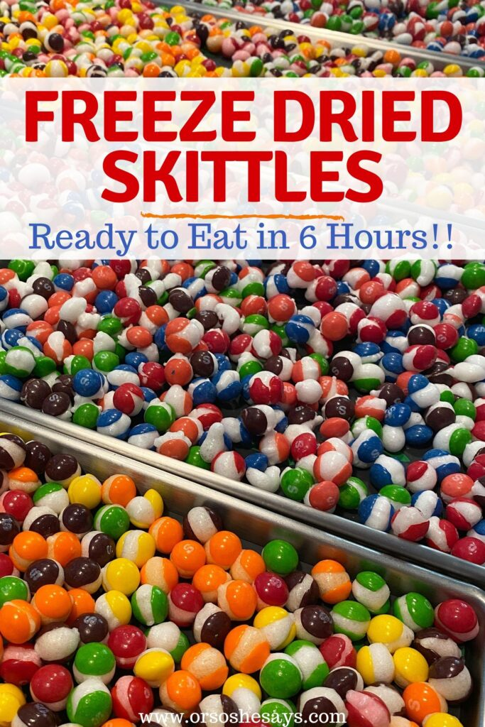 freeze dried skittles