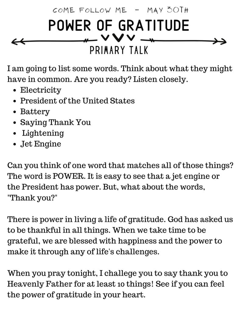 Power Of Gratitude Talk