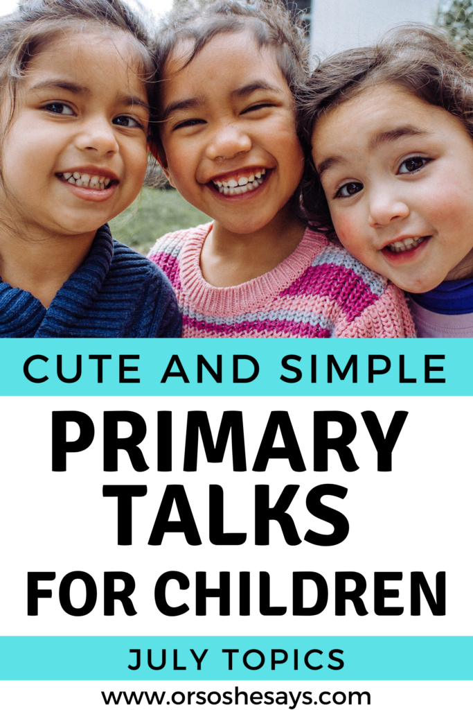 Primary Talks for July